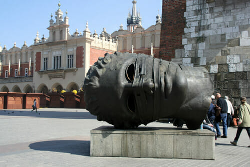 Sculpture on the Main Square in Cracow