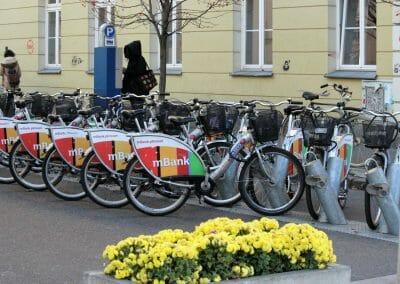 אופניים להשכרה בוורשה