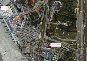 מפה של שדה תעופה בורשה