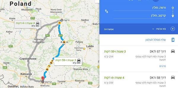 choice how to go Krakow