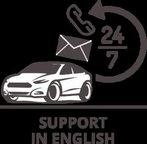 אייקון של שירות 24 שעות באנגלית